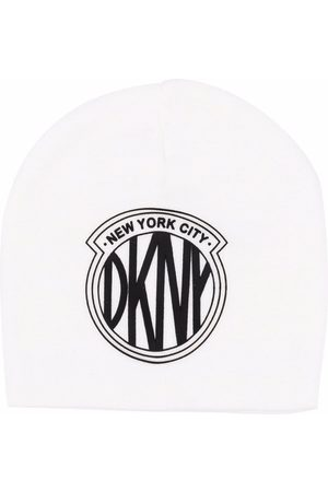 DKNY Logo-patch knitted hat