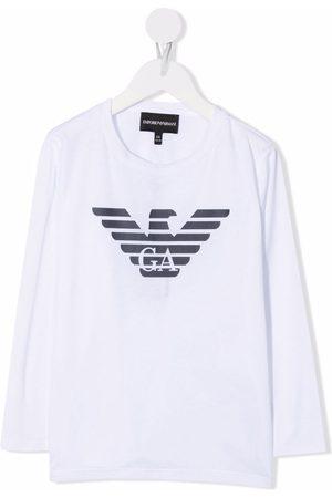 Emporio Armani Logo-print longsleeved T-shirt