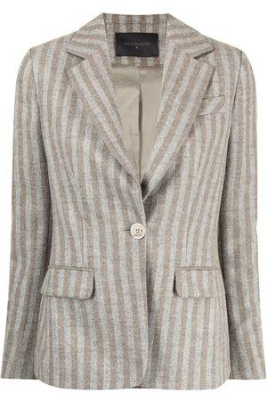LORENA ANTONIAZZI Alpaca-blend striped blazer
