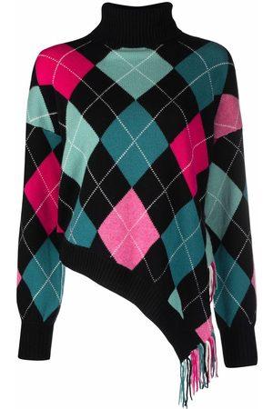 BALLANTYNE Asymmetric argyle-knit jumper