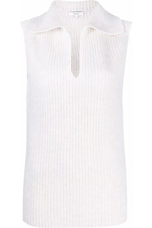 Vince Ribbed-knit sleeveless top