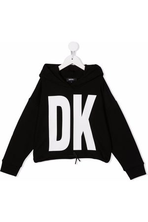 DKNY Logo-print pullover hoodie