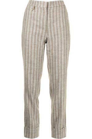 LORENA ANTONIAZZI Striped-print straight trousers