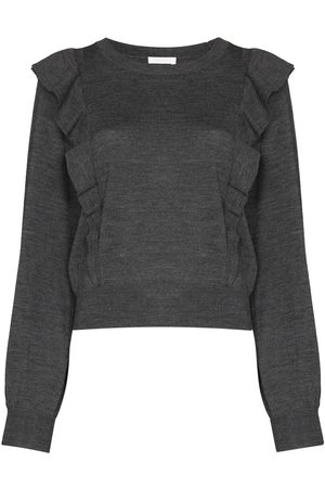 See by Chloé Women Jumpers - Frilly ruffle-trim jumper