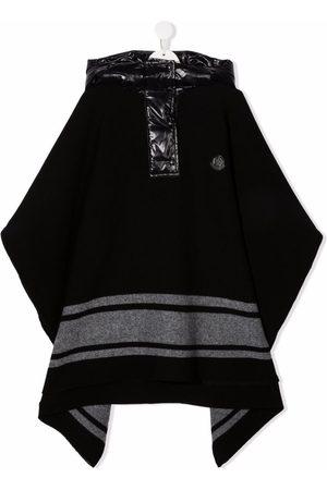 Moncler TEEN hooded cape coat