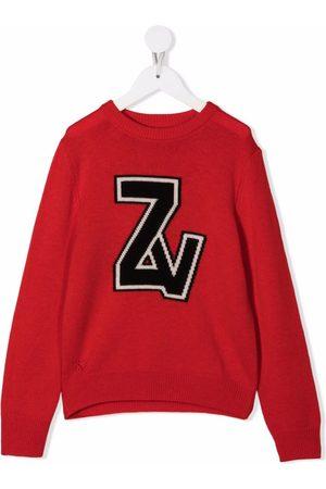 Zadig & Voltaire Logo-appliqué knit jumper