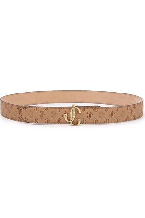 Jimmy Choo Felisa leather logo-buckle belt