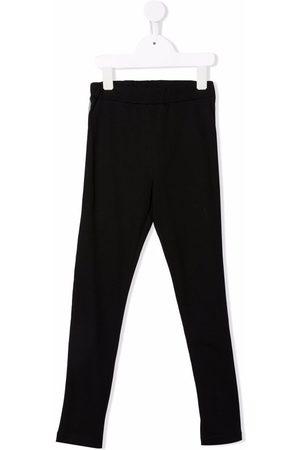 Balmain Boys Stretch Pants - Logo-print stretch-cotton leggings