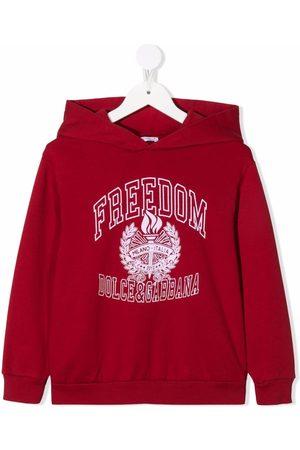 Dolce & Gabbana Fleece logo-stamp hoodie