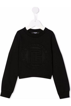 Balmain Girls Sweatshirts - Embossed-logo sweatshirt