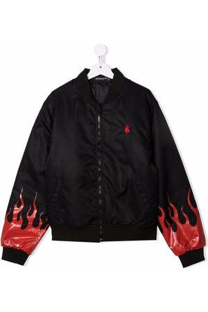Vision Of Super TEEN flame-print bomber jacket
