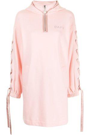 BAPY Tie-detail pullover hoodie dress
