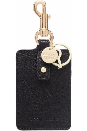 See by Chloé Embossed-logo leather keychain