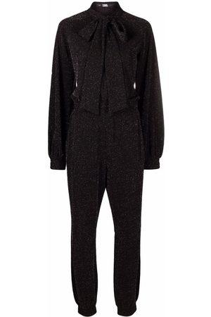 Karl Lagerfeld Scarf-neck lurex jumpsuit