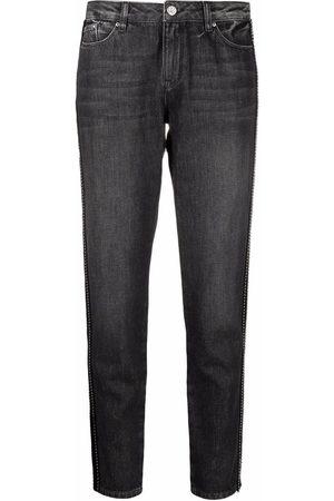 Karl Lagerfeld Side-stripe straight-leg jeans