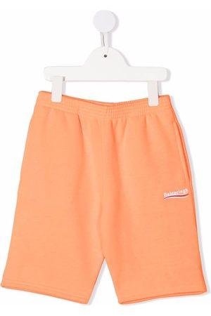 Balenciaga Embroidered-logo shorts