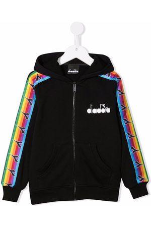 Diadora Logo-print zip-up hoodie