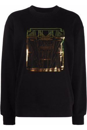 Karl Lagerfeld Art Deco logo-print sweatshirt