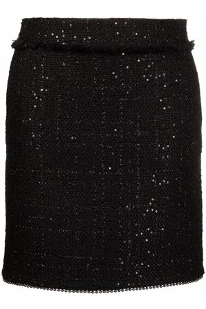 Karl Lagerfeld High-waisted bouclé skirt