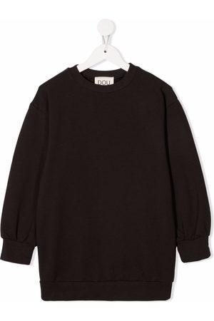 DOUUOD KIDS Patch-detail crew neck sweater dress