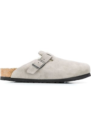 Birkenstock Women Slippers - Suede shearling lined slippers