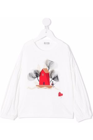 Il gufo Graphic-print longsleeved T-shirt