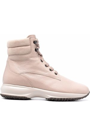 Hogan Padded ankle lace-up boots
