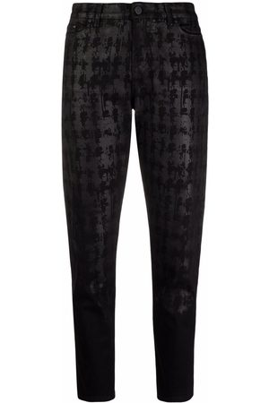 Karl Lagerfeld Women Tapered - Abstract-print tapered jeans