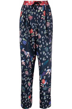 FORTE FORTE Floral straight-leg trousers