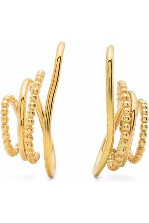 BONVO 18kt -plated silver Twisted Loop earrings