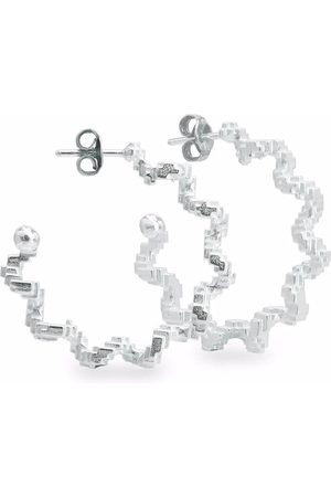 HARRIET MORRIS Glitch hoop earrings
