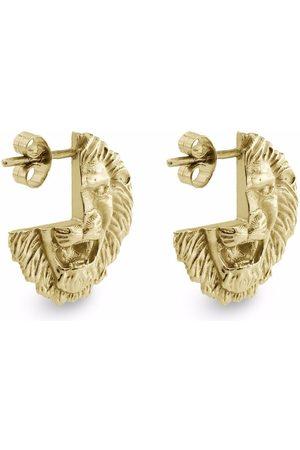 HARRIET MORRIS 9kt yellow Lion stud earrings