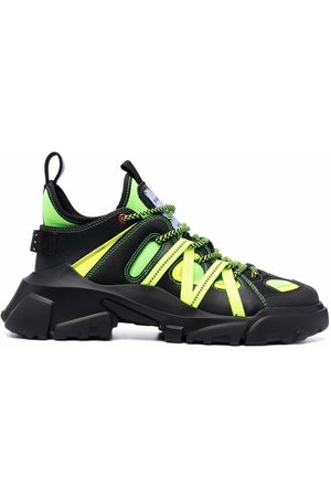 McQ Lace-up panelled sneakers