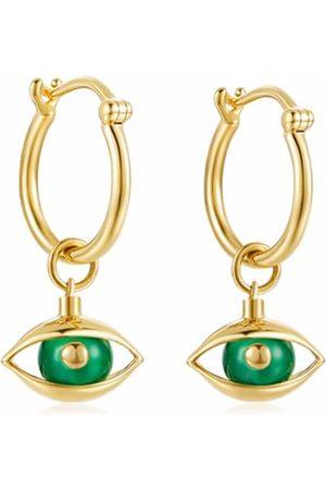 ZEEMOU ZENG 18kt yellow mini eye earrings