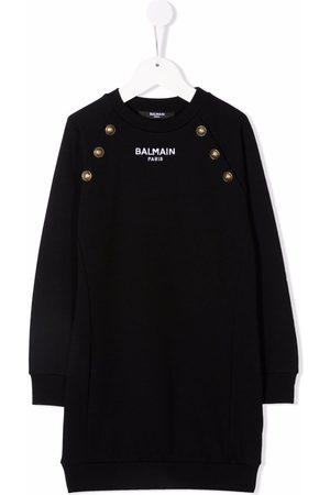 Balmain Long-sleeve knitted dress