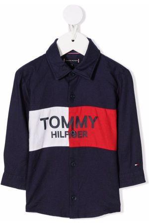Tommy Hilfiger Logo-print button-up shirt
