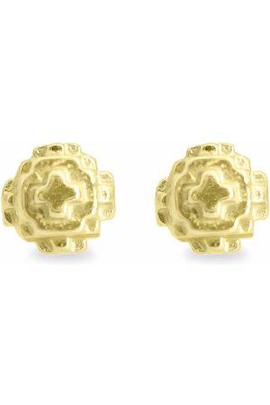 HARRIET MORRIS Women Earrings - 9kt yellow Pixel small stud earrings