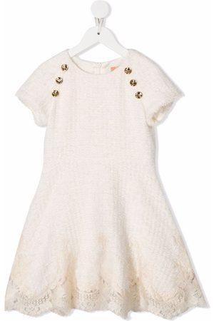 Elisabetta Franchi La Mia Bambina Floral lace-detail dress