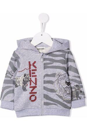 Kenzo Zebra stripe motif hoodie