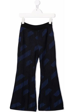 VERSACE Ribbed flare-cuff trousers