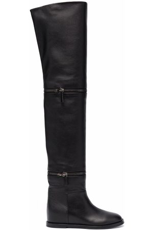 Casadei Two-way leather boots
