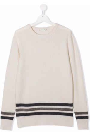 Paolo Pecora TEEN stripe-print merino jumper