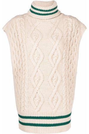 ERIKA CAVALLINI Cable-knit roll neck vest