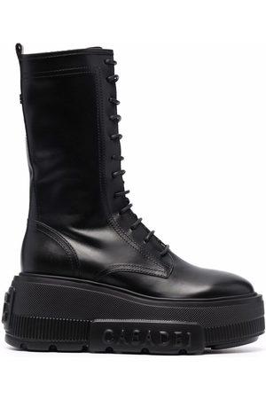 Casadei Lace-up platform boots