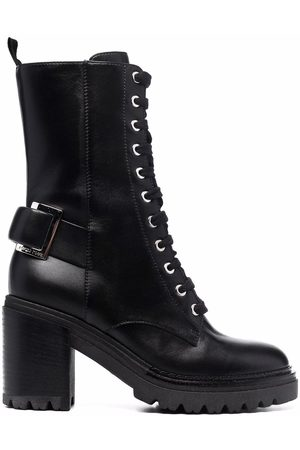 Sergio Rossi Lace-up leather boots