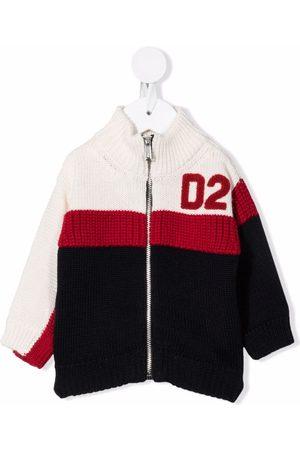 Dsquared2 Colour-block zip-up cardigan