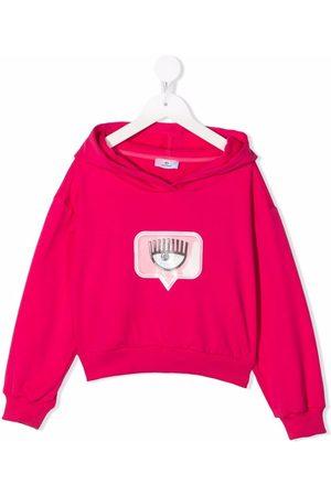 Chiara Ferragni Logo-print cotton hoodie
