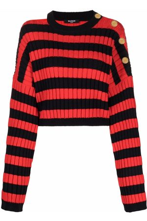 Balmain Horizontal-stripe pattern long-sleeve jumper