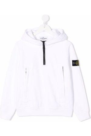 Stone Island Logo-patch sleeve hoodie