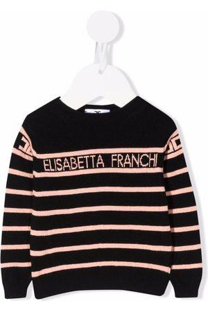 Elisabetta Franchi La Mia Bambina Logo-print striped jumper